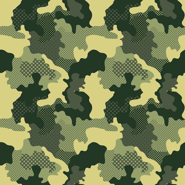 Military and camouflage pattern Premium Vector
