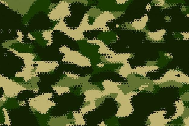 Struttura mimetica militare nel modello di tonalità verde Vettore gratuito