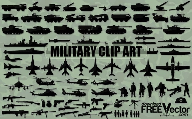 military clip art silhouettes vector free download rh freepik com U S Military Clip Art Free Military Pictures Free