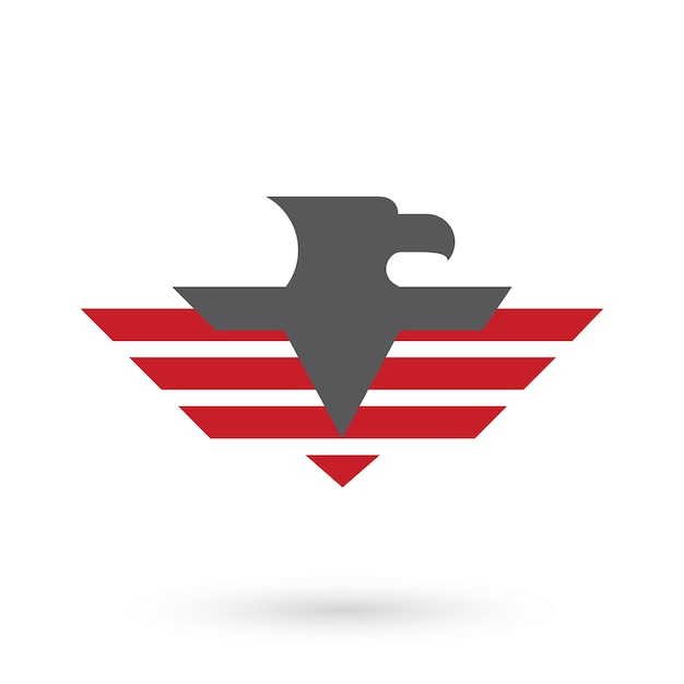 military logo template with eagle icon vector premium download. Black Bedroom Furniture Sets. Home Design Ideas