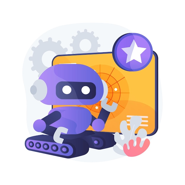 Military robotics abstract concept illustration Free Vector