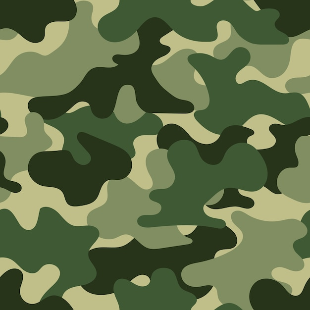 Military seamless pattern,  illustration Premium Vector