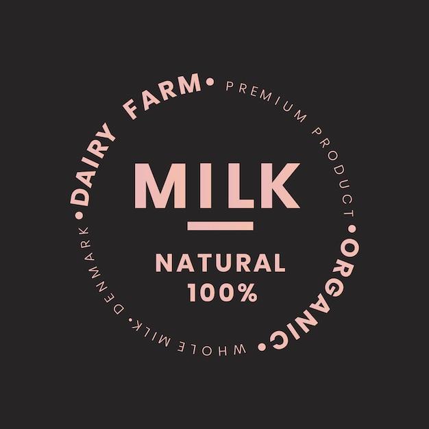 Milk bottle branding Free Vector