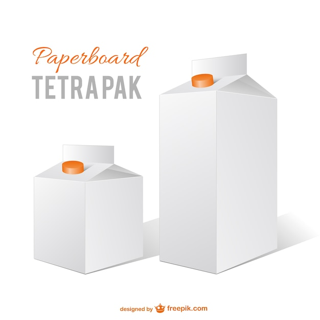 Milk cartons vector Vector | Free Download