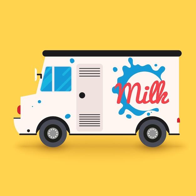 牛乳配達サービス Premiumベクター