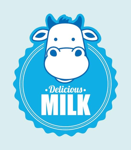 Milk design Premium Vector