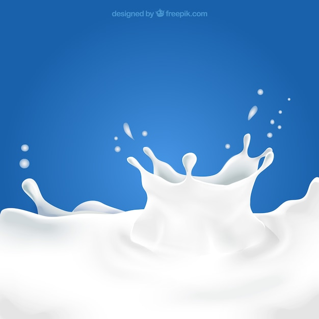 Milk splash Free Vector