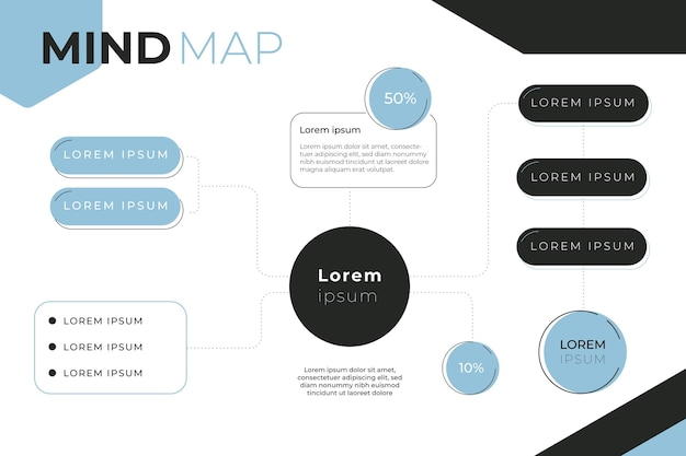 Mind map concept Free Vector