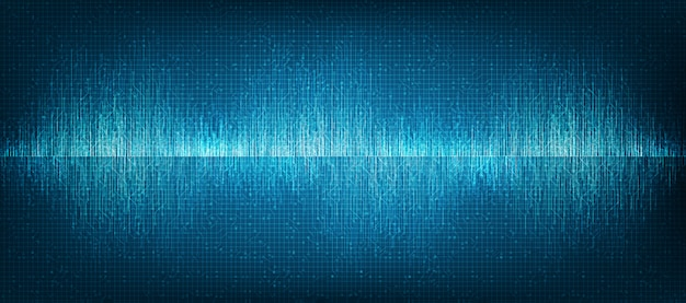 Mini digital sound wave technology background Premium Vector