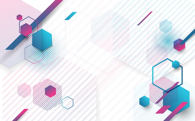 Minimal abstract geometric background Premium Vector