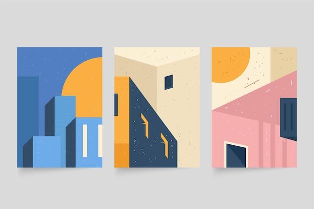 Pacchetto di copertine di architettura minimale Vettore gratuito