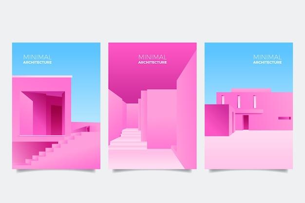Coperture di architettura minimale Vettore gratuito