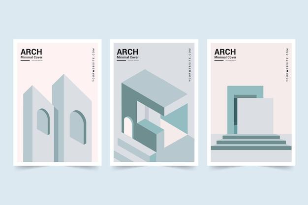 Copertine dall'architettura minimale Vettore gratuito