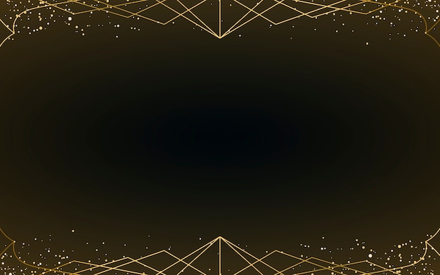 Minimal Art Deco Wallpaper With Decorative Gold Glitter Vector