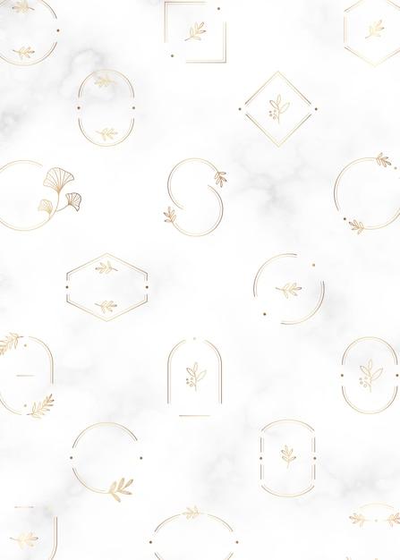 Minimal botanical frames design Free Vector