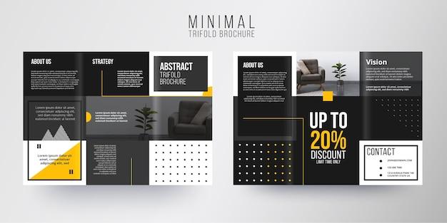 Minimal brochure template theme Free Vector