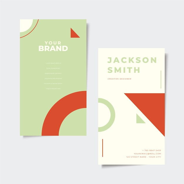 Minimal business card concept Free Vector