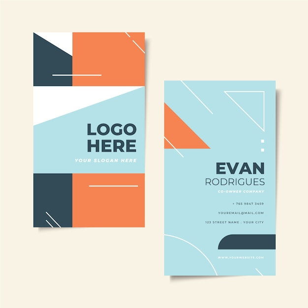 Minimal business card design Free Vector