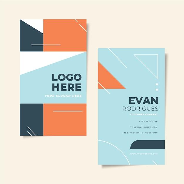 Минимальный дизайн визитной карточки Бесплатные векторы