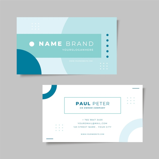 Minimal business card style Free Vector