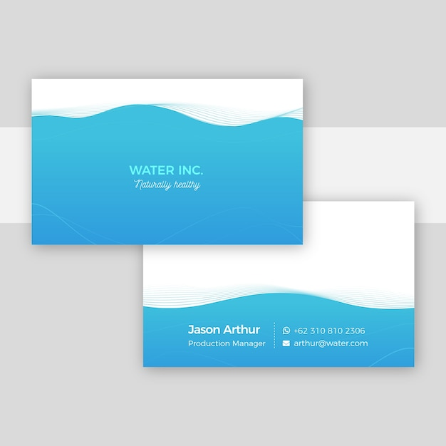 Minimal business card template concept Free Vector
