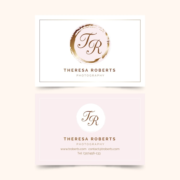 Minimal business card template set Free Vector
