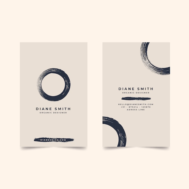 Minimal business card template vector Free Vector