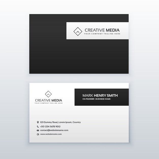 Minimal business card template vector free download minimal business card template free vector colourmoves