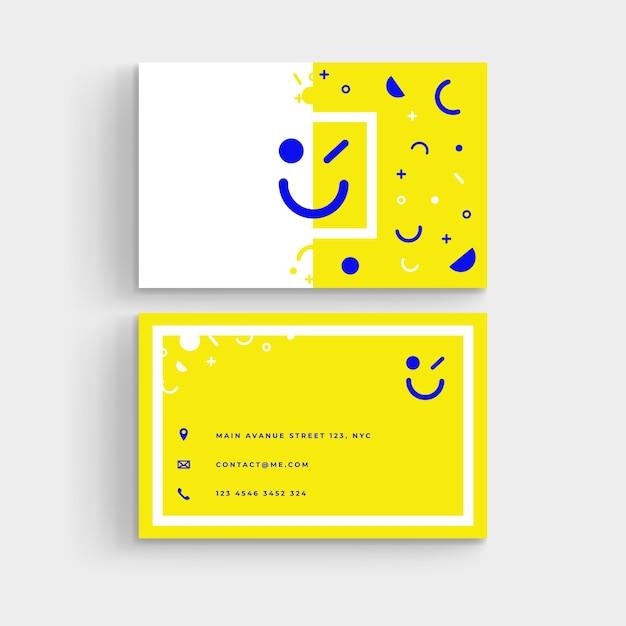 Шаблон минимальной визитки Бесплатные векторы