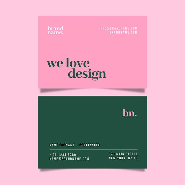 Minimal business card template Premium Vector