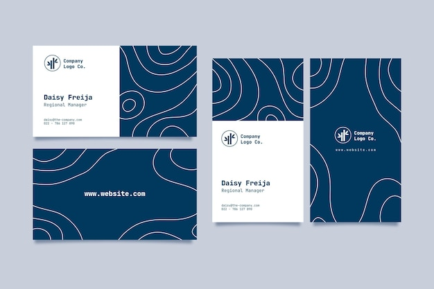 Minimal business card template Free Vector