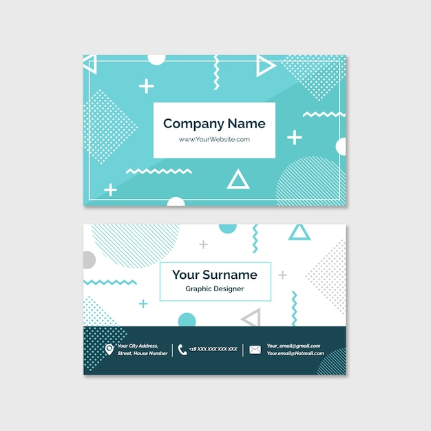 Minimal business card Free Vector