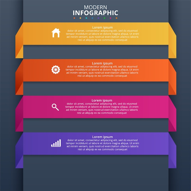 Minimal business infographics template. vector illustration Free Vector
