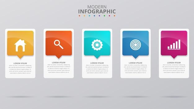 Minimal business infographics template. vector illustration Premium Vector