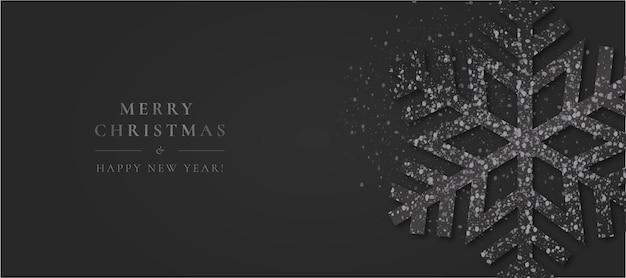 Minimal christmas with elegant snowflake Free Vector