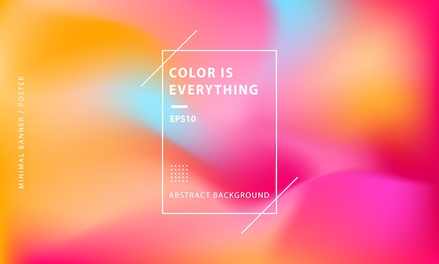 Minimal colorful abstract banner background Premium Vector