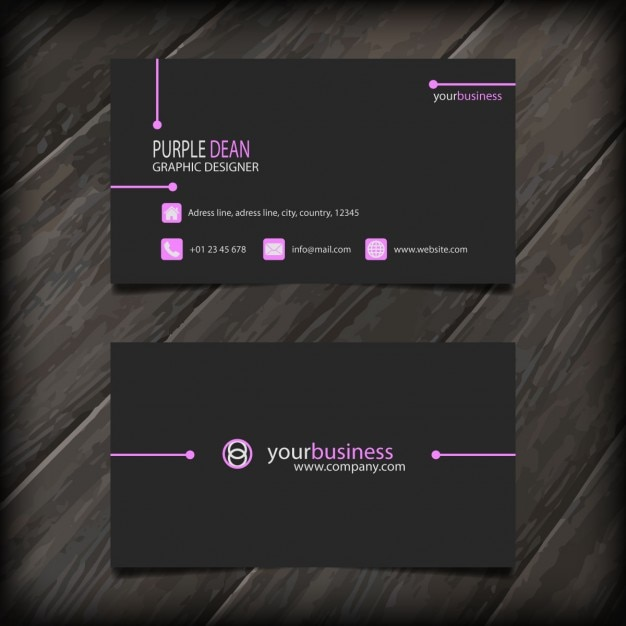 Minimal dark business card vector free download minimal dark business card free vector colourmoves