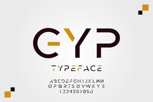 Minimal design alphabet concept Free Vector