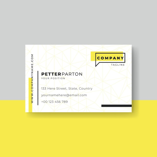 Minimal design business card template Free Vector