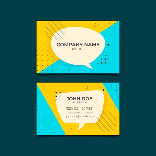 Минималистичный дизайн визитки Бесплатные векторы