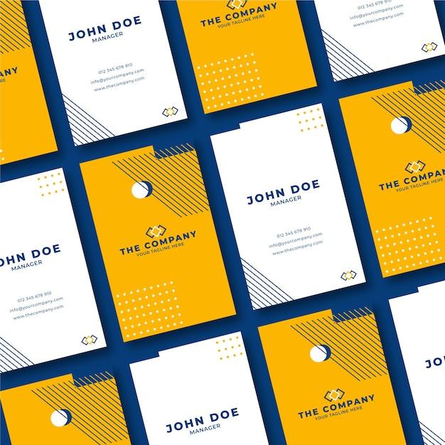 Минимальный дизайн для визитки Бесплатные векторы