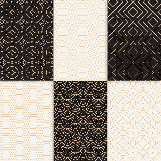 Minimal design geometric pattern collection Free Vector