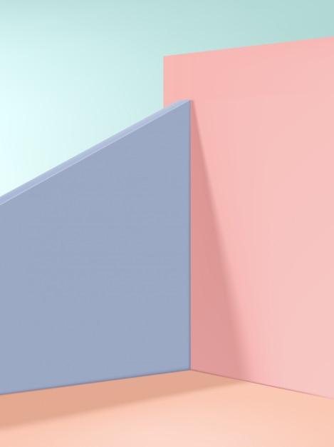 最小限のファッションと美容製品のディスプレイの背景、ベージュ、ピンク、パープル。 Premiumベクター