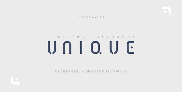 Минимальный шрифт креативный современный алфавит Premium векторы