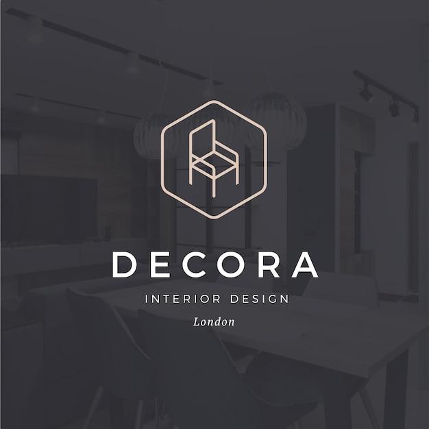 Minimal furniture logo Free Vector