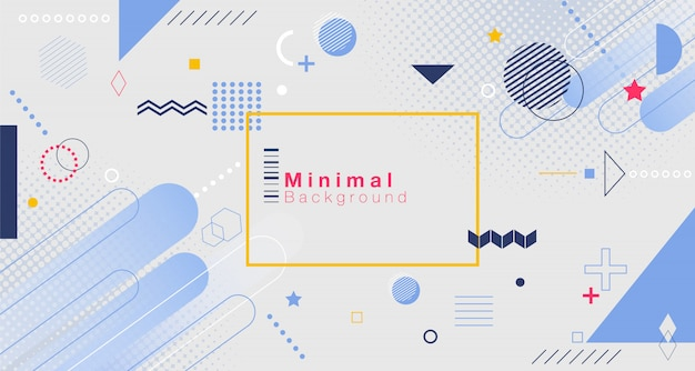 Minimal geometric background. Premium Vector