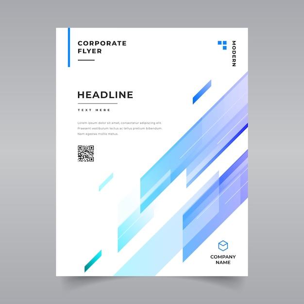 Minimal geometric brochure template Premium Vector