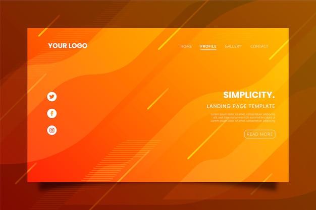 Минимальная геометрическая целевая страница Premium векторы