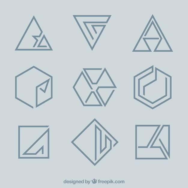 Minimal Geometric Monoline Logos