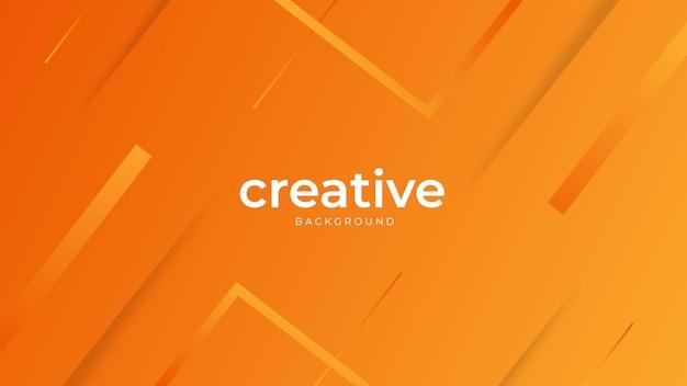 Minimal geometric orange background Premium Vector